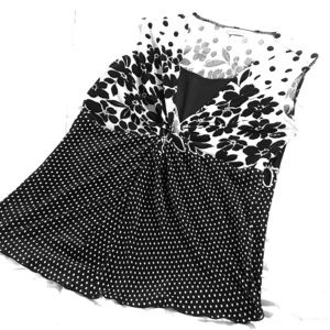 Christopher & Banks black and white sleeveless top